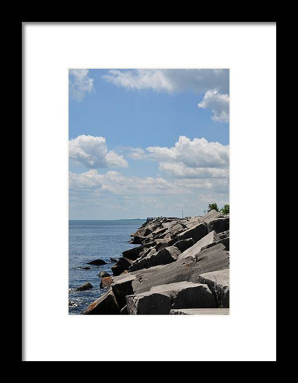 Simmons Island Framed Print featuring the photograph Simmons Island 1 by Tina Jones