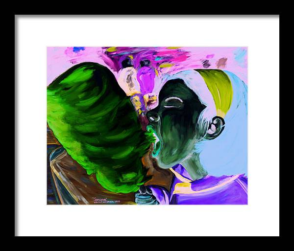 Kevin Callahan Framed Print featuring the painting Simone by Kevin Callahan