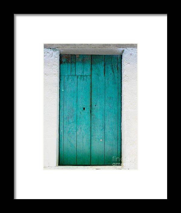 Darian Day Framed Print featuring the photograph Simple Blue By Darian Day by Mexicolors Art Photography