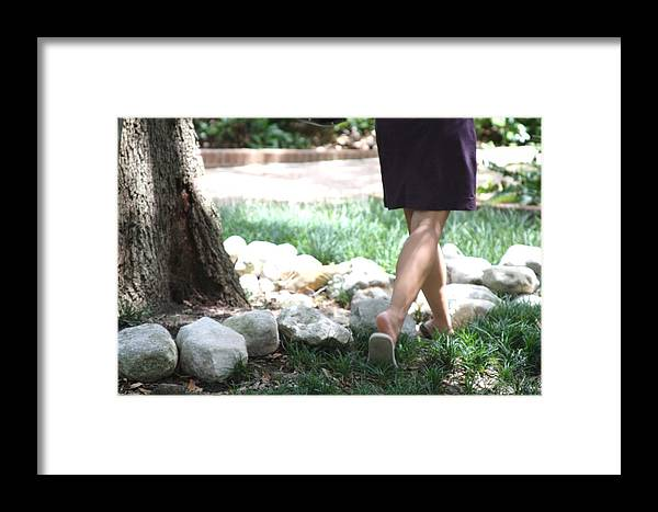 Green Step Framed Print featuring the photograph Simple by Gracey Tran