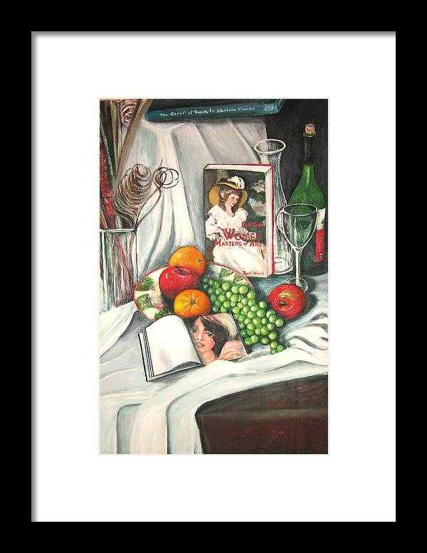 Still Life Framed Print featuring the painting Simple Pleasures by Eileen Kasprick