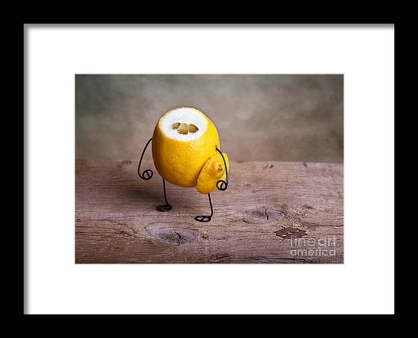 Lemon Framed Print featuring the photograph Simple Things 12 by Nailia Schwarz