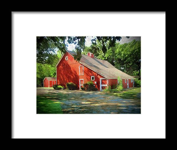 Barn Framed Print featuring the photograph Simpler Times by Cedric Hampton