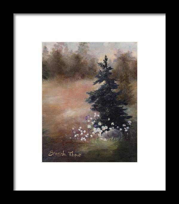 Pine Framed Print featuring the painting Simplicity by Brenda Thour