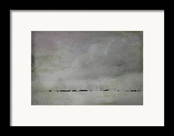 Snow Framed Print featuring the photograph Simplistic Beauty by Kathy Jennings