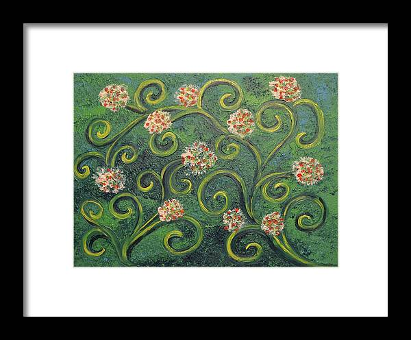 Flower Framed Print featuring the painting Simply De Vine by Nancy Sisco