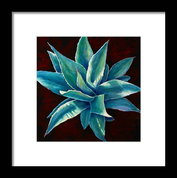 Agave Framed Print featuring the painting Simply Succulent by Shannon Grissom