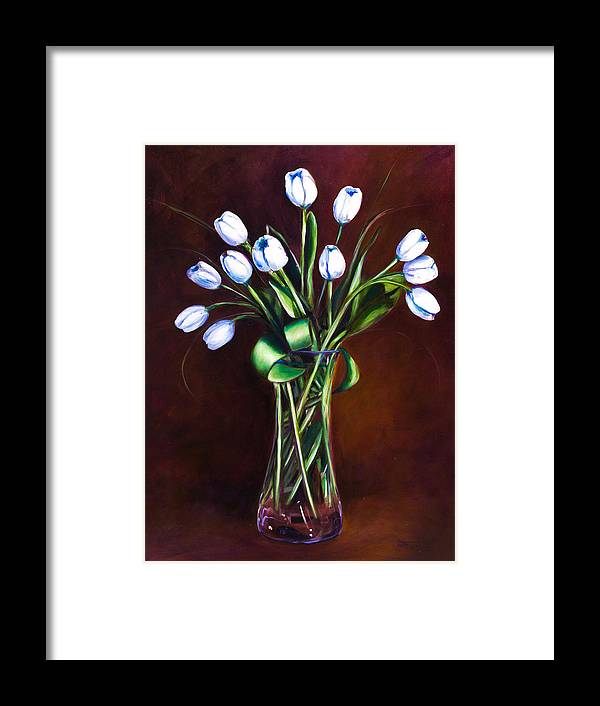 Shannon Grissom Framed Print featuring the painting Simply Tulips by Shannon Grissom