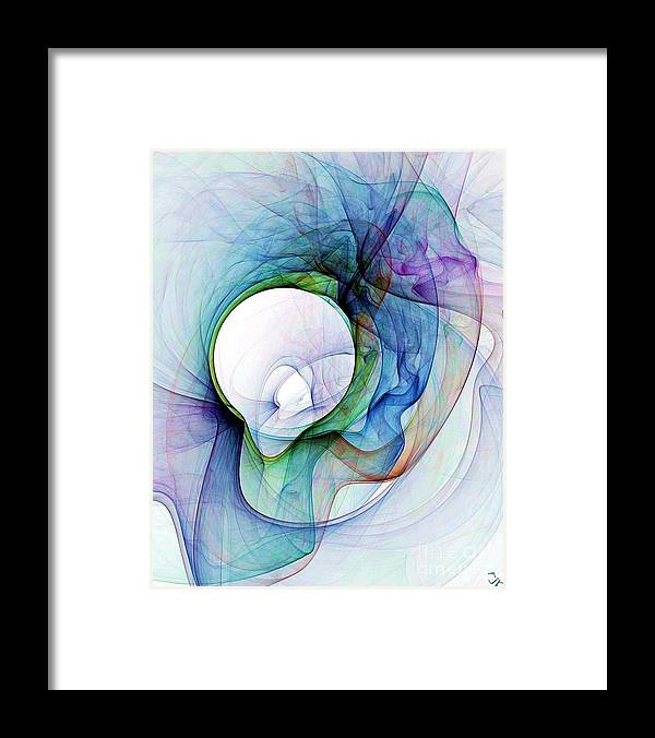 Smoke Framed Print featuring the digital art Simulated Colored Smoke by Ron Bissett