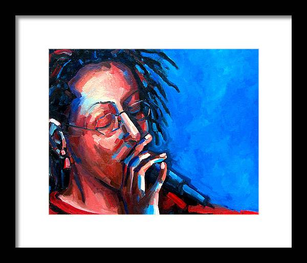Portrait Framed Print featuring the painting Since I Fell For You by Jackie Merritt