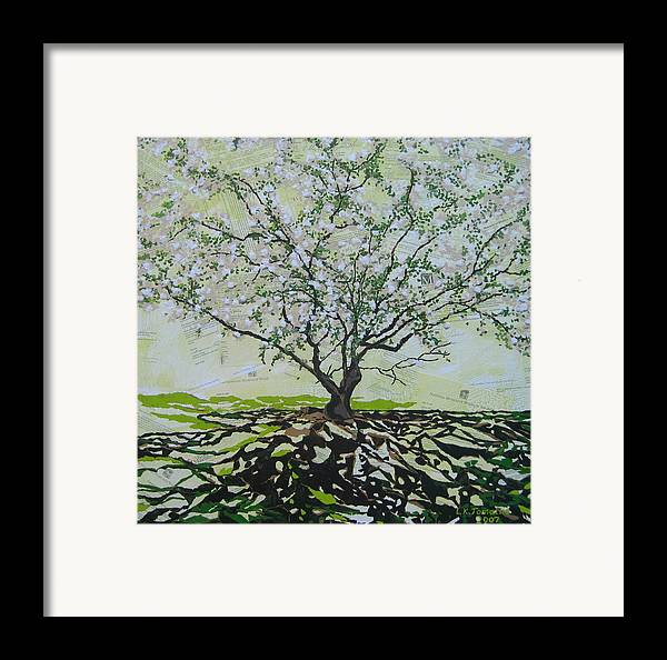 Apple Tree Framed Print featuring the painting Sincerely-the Curator by Leah Tomaino