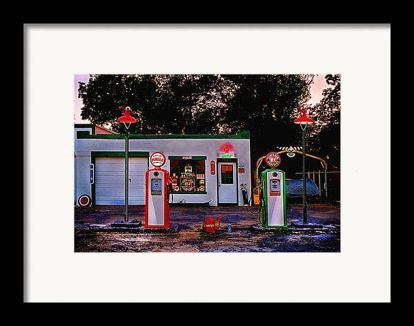 Gas Station Framed Print featuring the photograph Sinclair by Steve Karol