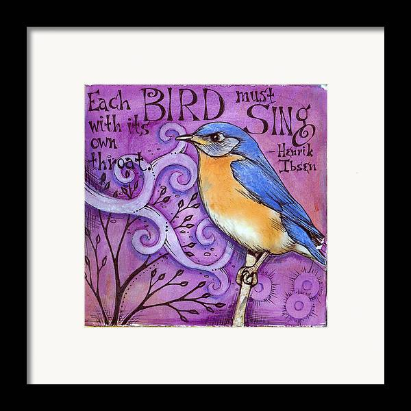 Bird Framed Print featuring the mixed media Sing by Vickie Hallmark