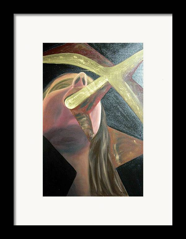 Framed Print featuring the painting singer is sick N1 by Evguenia Men