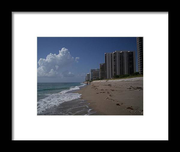 Island Framed Print featuring the photograph Singer Island by Karen Thompson