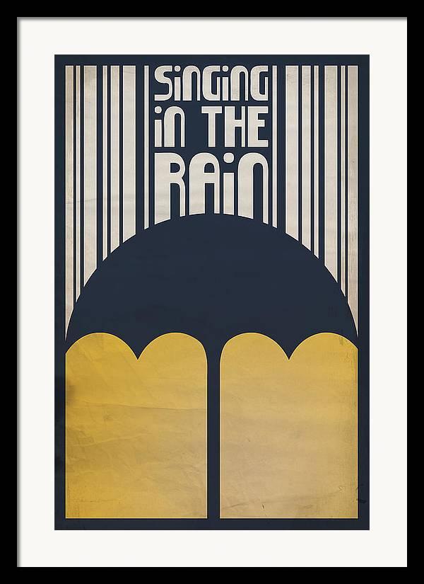 Gene Kelly Framed Print featuring the digital art Singin' In The Rain by Megan Romo