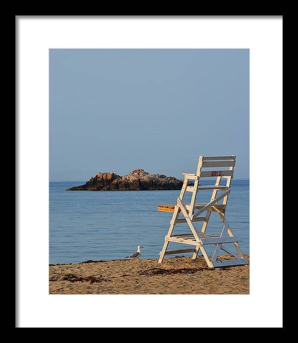 Singing Beach Lifeguard Chair Manchester by the Sea MA by Toby McGuire