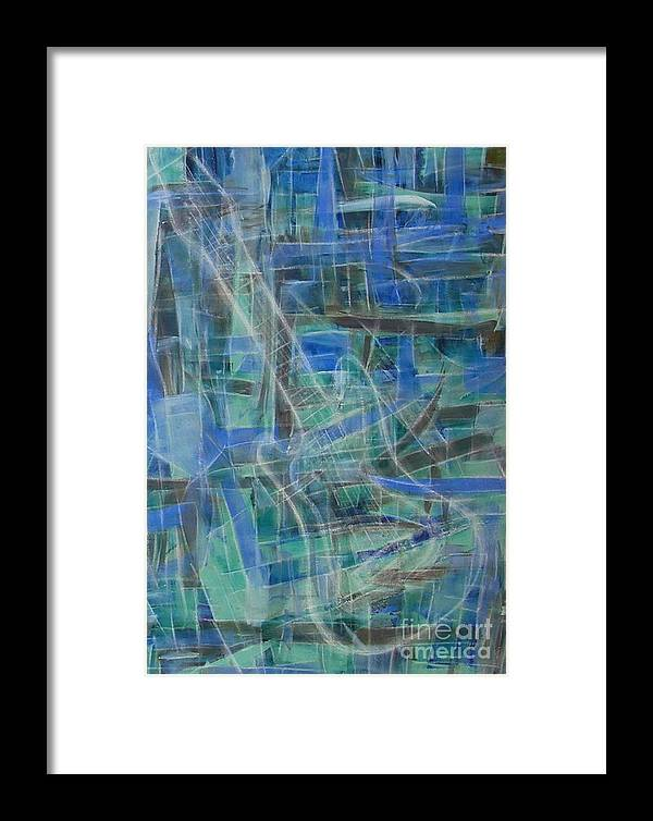 Guitar Framed Print featuring the painting Singing The Blues by Dawn Hough Sebaugh