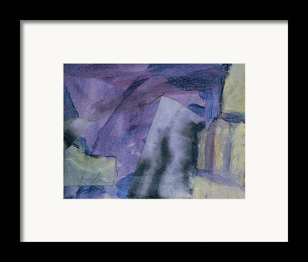 Abstract Framed Print featuring the painting Singing The Blues by Kevin Stevens