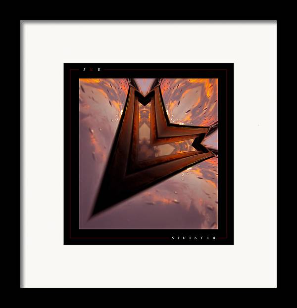 Abstract Framed Print featuring the photograph Sinister by Jonathan Ellis Keys