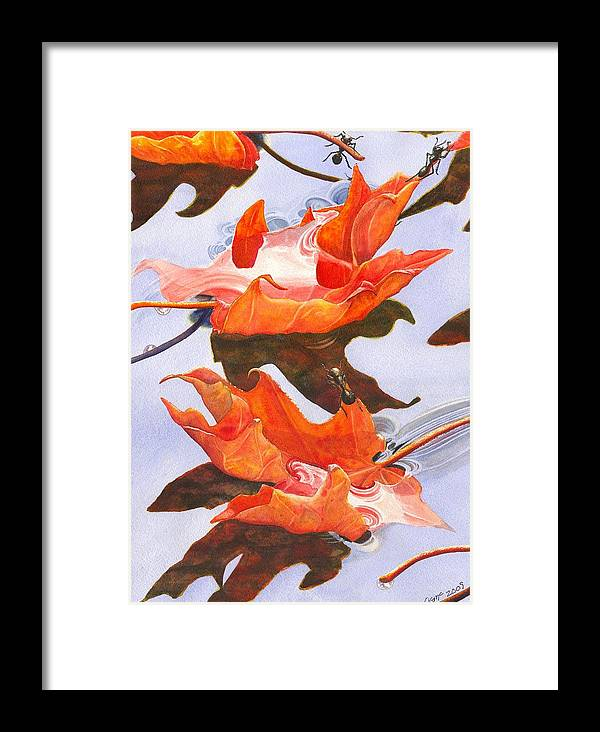 Leaf Framed Print featuring the painting Sinking Feeling by Catherine G McElroy