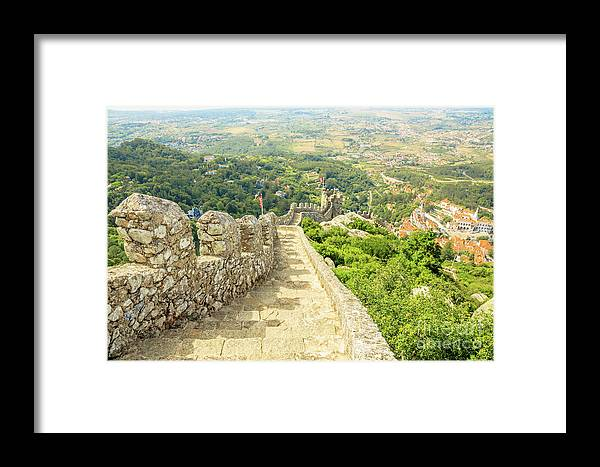 Sintra Framed Print featuring the photograph Sintra Moorish Castle Wall by Benny Marty