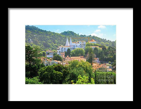 Sintra Framed Print featuring the photograph Sintra National Palace Aerial by Benny Marty