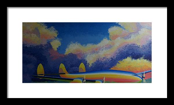 Aviation Framed Print featuring the painting Sinuous Connie by Ron Smothers