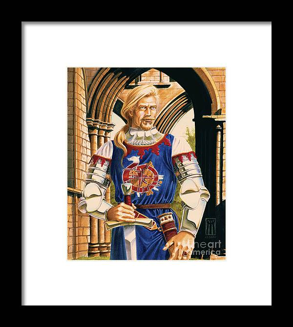 Swords Framed Print featuring the painting Sir Dinadan by Melissa A Benson