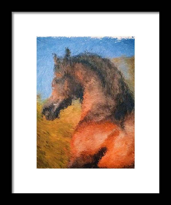Horse Framed Print featuring the painting Sir Gallant by Jennifer Thomas