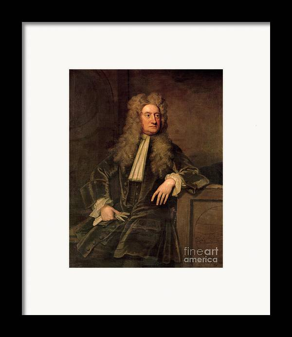 Sir Framed Print featuring the painting Sir Isaac Newton by Sir Godfrey Kneller