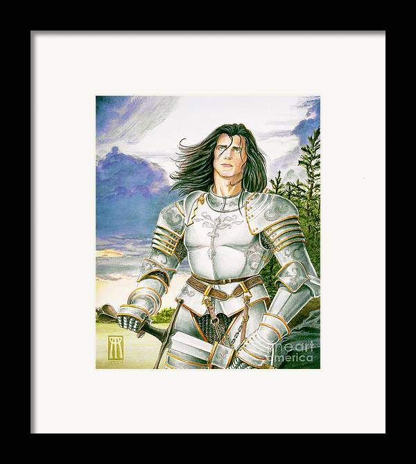 Swords Framed Print featuring the painting Sir Lancelot by Melissa A Benson