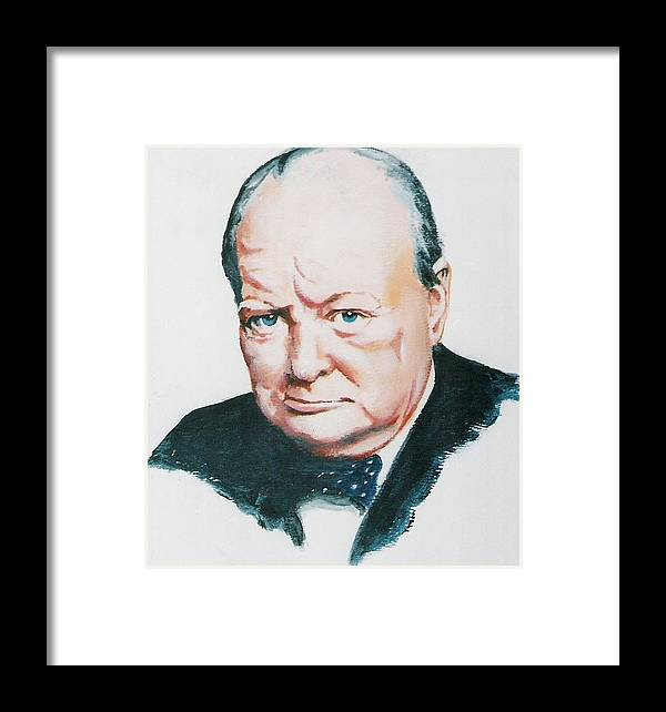 Churchill. Primeminister Framed Print featuring the painting Sir Winston Churchill by Barry Smith