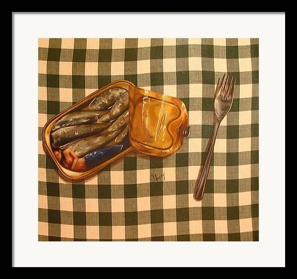 Still Life Framed Print featuring the painting Sirene En Boite by Helene Fleury