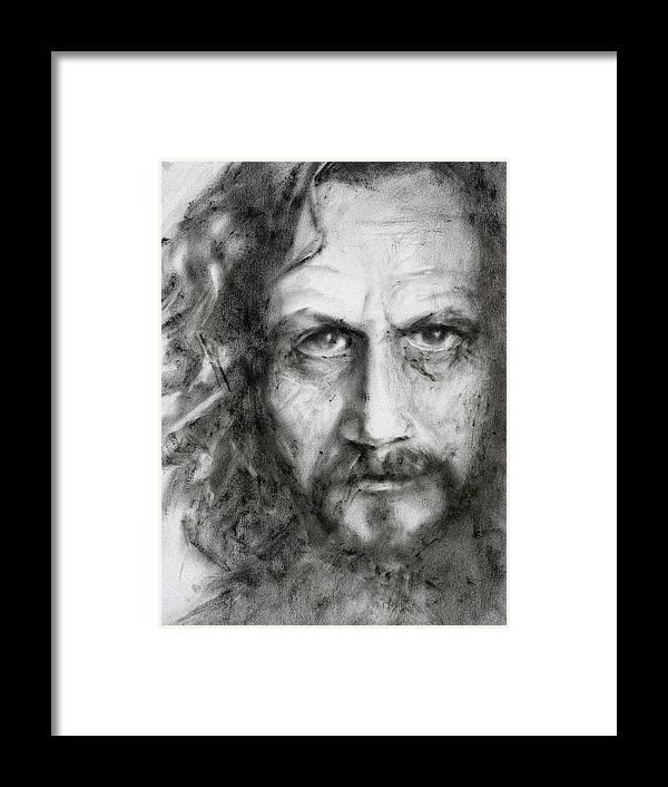 Portrait Framed Print featuring the painting Sirius Black by Kira Jensikbayeva