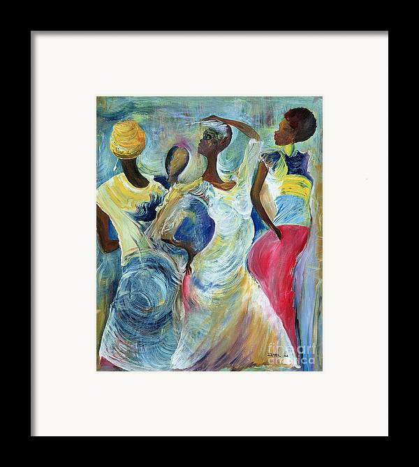 African Framed Print featuring the painting Sister Act by Ikahl Beckford