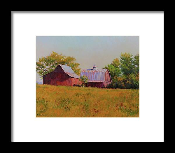 Barns Framed Print featuring the painting Sisters by Keith Burgess