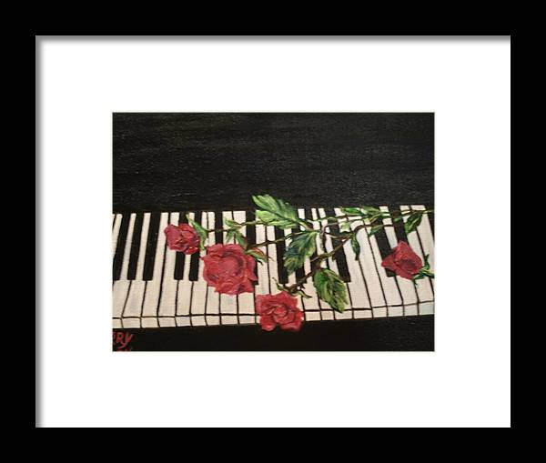 Piano Framed Print featuring the painting Sisters by Terry Lash