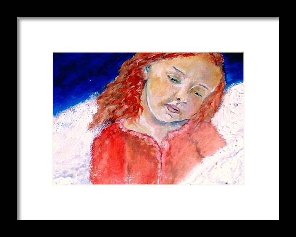 Angels Framed Print featuring the painting watching the Dreamers by J Bauer