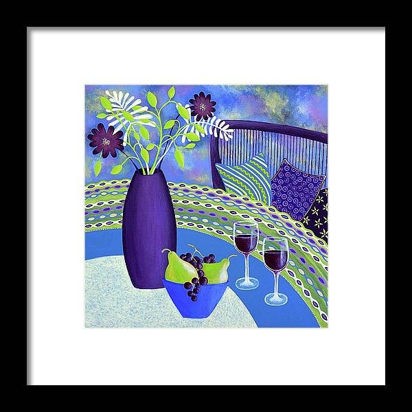 Sit A While Framed Print featuring the painting Sit A While by Lisa Frances Judd