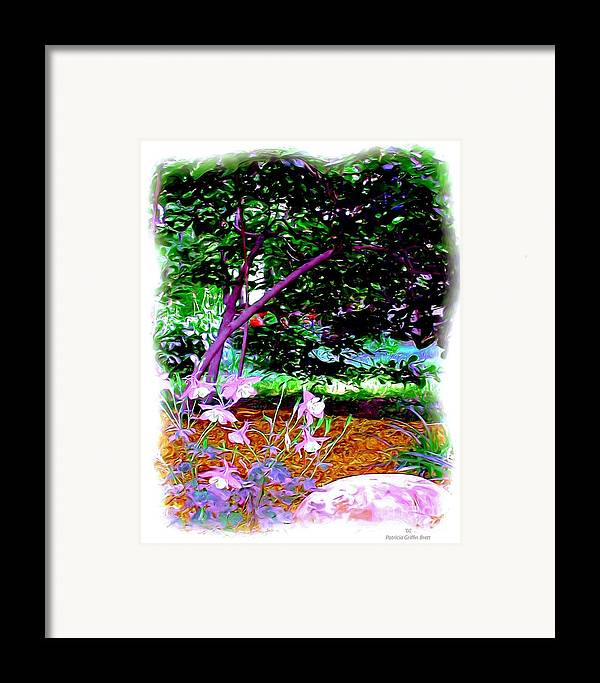 Fine Art Framed Print featuring the painting Sitting In The Shade by Patricia Griffin Brett