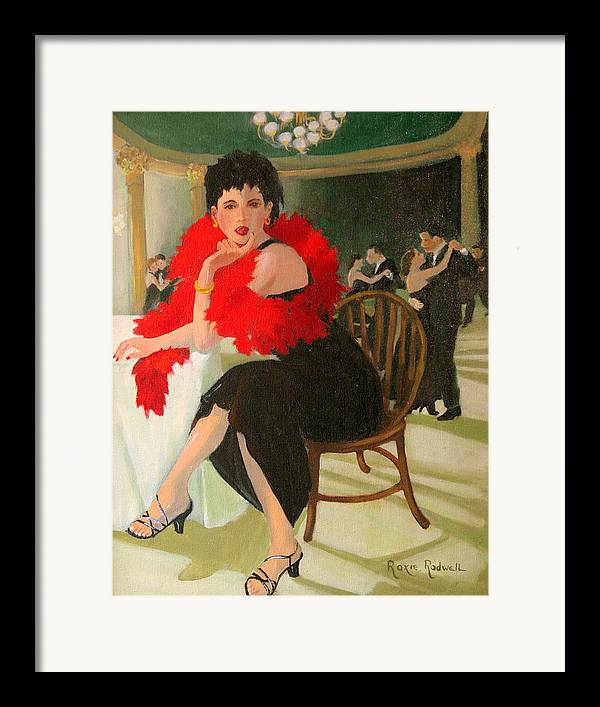 Figure Framed Print featuring the painting Sitting This One Out by Roxanne Rodwell