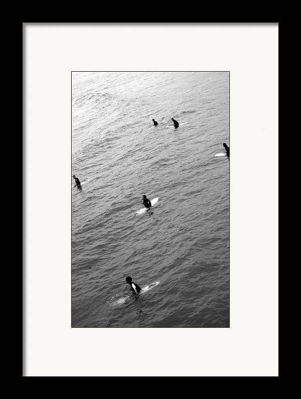 San Clemente Pier Framed Print featuring the photograph Sitting Waiting Wishing by Brad Scott