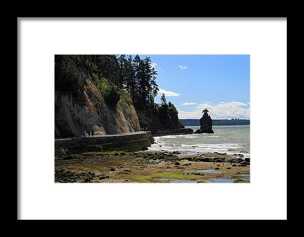 Siwash Framed Print featuring the photograph Siwash Rock Stanley Park Vancouver by Pierre Leclerc Photography