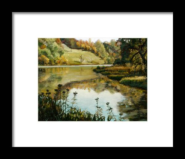Six Mile Creek Framed Print featuring the painting Six Mile Creek Ithaca by John Clum
