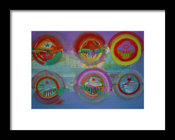 Landscape Framed Print featuring the painting Six Visions Of Heaven by Charles Stuart