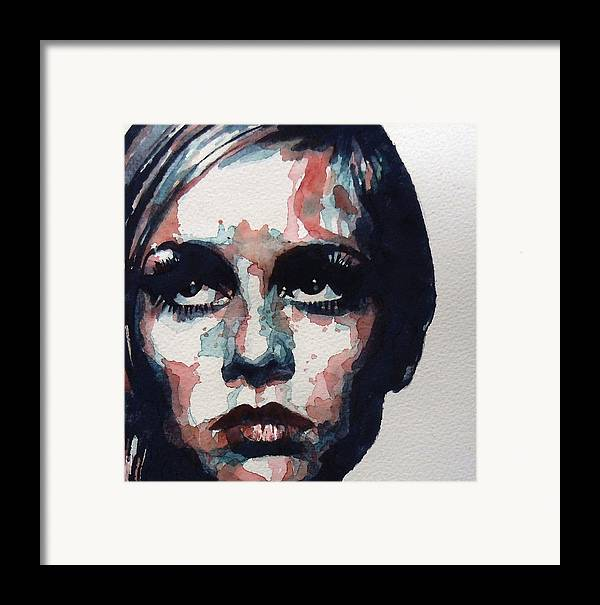 Twiggy Framed Print featuring the painting Sixties Sixties Sixties Twiggy by Paul Lovering
