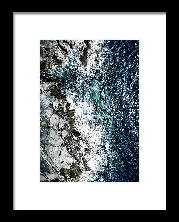 Drone Framed Print featuring the photograph Skagerrak Coastline - Aerial Photography by Nicklas Gustafsson