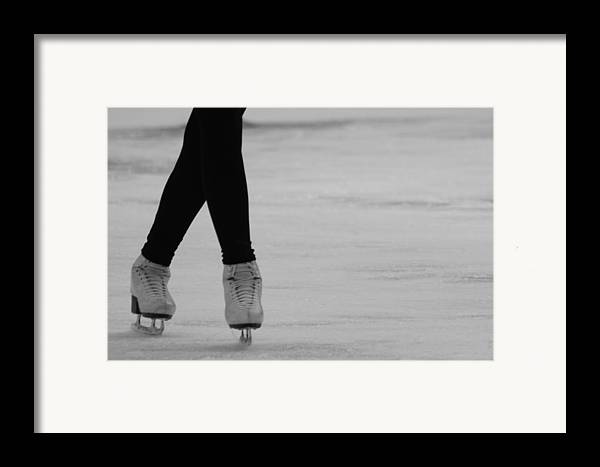 Ice Skate Framed Print featuring the photograph Skating by Lauri Novak