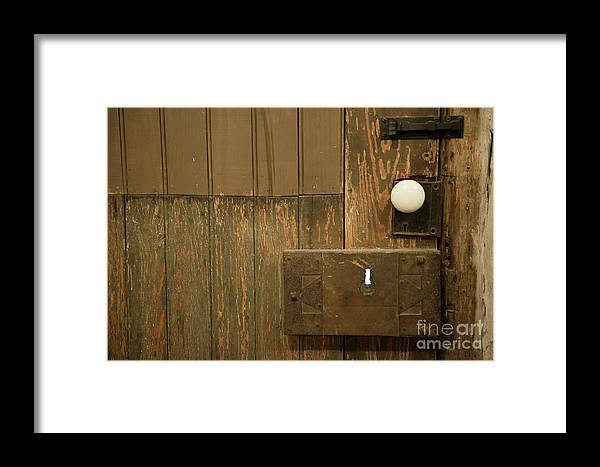 Skeleton Framed Print featuring the photograph Skeleton Key Hole by Dale Powell
